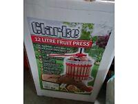 Clarke FP12 Fruit Press 12L for Making Wine, Cider etc