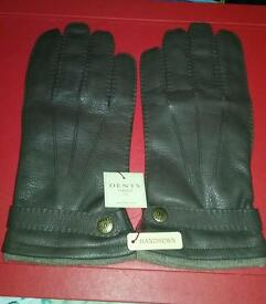 * BRAND NEW DENTS of ENGLAND with TAGS * £20 off RRP Men's Cashmere Lined Deerskin Leather Gloves