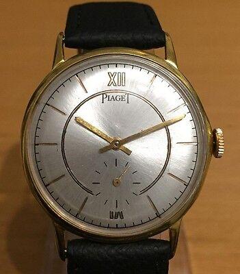 Vintage 1950's Piaget Gentlemen's 18K gold filled watch 34.5mm new crystal