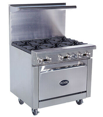 New 36 6 Burner Range Oven Base Royal Rr-6 1187 Commercial Restaurant Stove