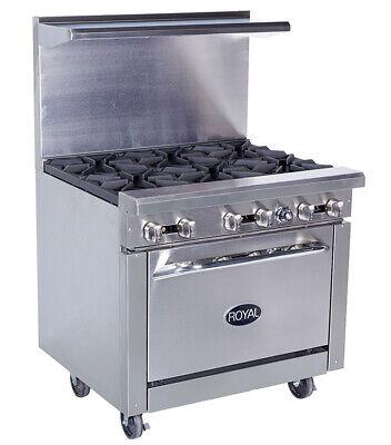 New 36 6 Burner Range Oven Base Royal Rr-6 1187 Commercial Restaurant Stove