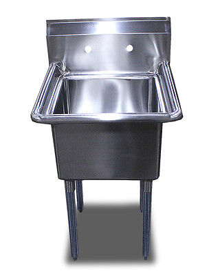 New Commercial 24 X24 Restaurant Stainless Steel 1 One Compartment Sinks Table