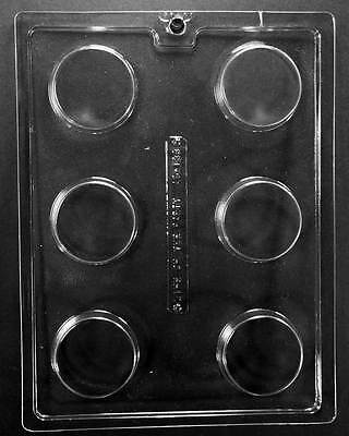 AO138 Plain Oreo Cookie Chocolate Candy Mold with (Plastic Chocolate Molds)