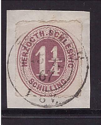 Schleswig Holstein, SH, 18 e, zentrisch gestempelt , geprüft (21051)