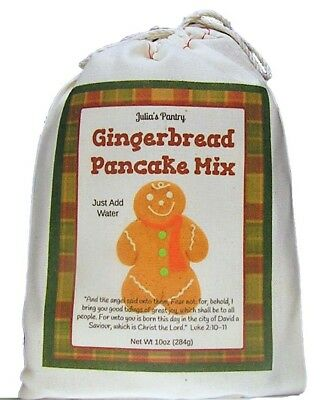 Julia's Pantry Complete Ginger Bread Pancake Mix, 10 Ounce Just add Water (Pantry Pancake Mix)
