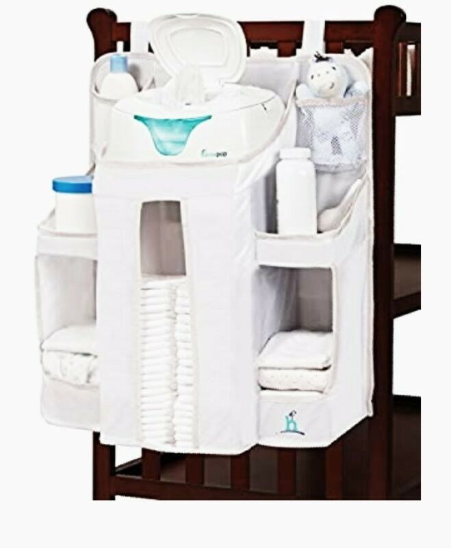 Hiccapop Nursery Organizer Baby Diaper Caddy Hanging Diaper Organization Storage