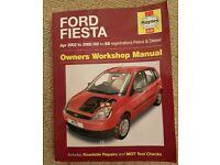 Ford fiesta Haynes workshop manual 2002-2008