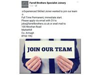 Experienced Joiner Wanted