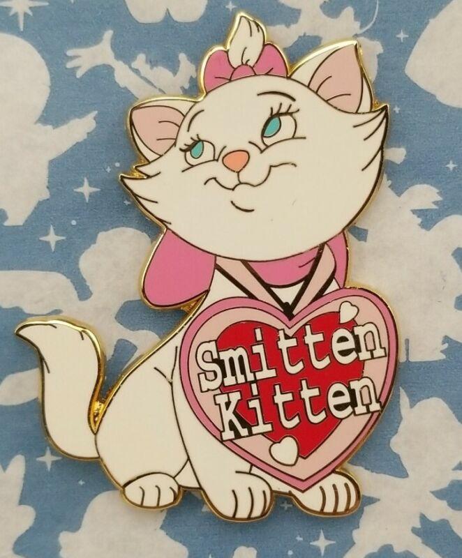 Disney Store Marie Valentine's Day Smitten Kitten Pin Limited Edition 250