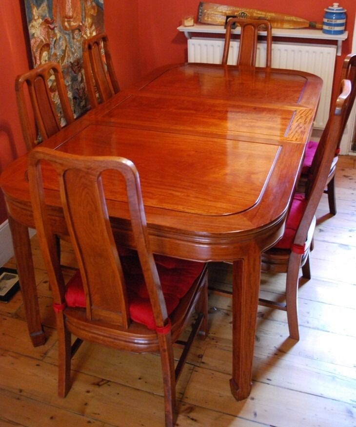 Beautiful Chinese Rosewood Dining Table & 6 Chairs - reduced for ...