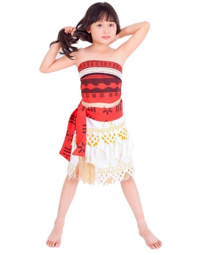 Moana Girls Fancy Dress Hawaiian Disney Princess Book Day Children Kids Costume