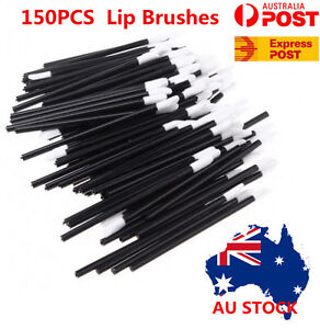 150pcs Lipbrushes Disposable Makeup Lipstick Wands Gloss Brush Applicator Tool