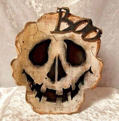 Halloween Ghost Face Boo With Cut Out In Back for Light-