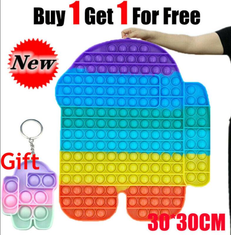 Among US 30cm Jumbo Popit  Sensory Fidget Toy Push Bubble Autism Stress Relief