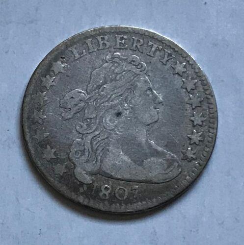 1807 Draped Bust Dime - VF+ details