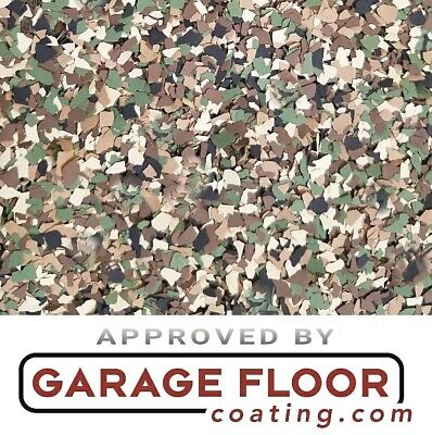 5 Lbs - Decorative Color Chip Flakes For Epoxy Floor Coatings 14 Camo Blend
