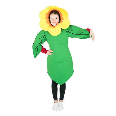 Kids Flower Garden Sunflower daffodil Fancy Dress Costume Outfit Suit Halloween - Child Sunflower Halloween Costume