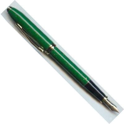 Cross Jade Fountain Pen Jade 14Kt Gold  Medium Pt New In Box Rare Beauty