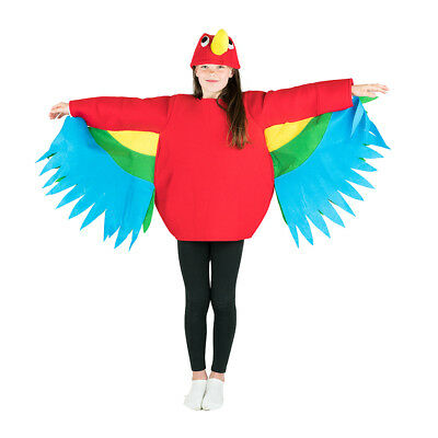 Kids Parrot Tropical Jungle Bird Fancy Dress Costume Outfit Suit Halloween  - Tropical Bird Halloween Costume