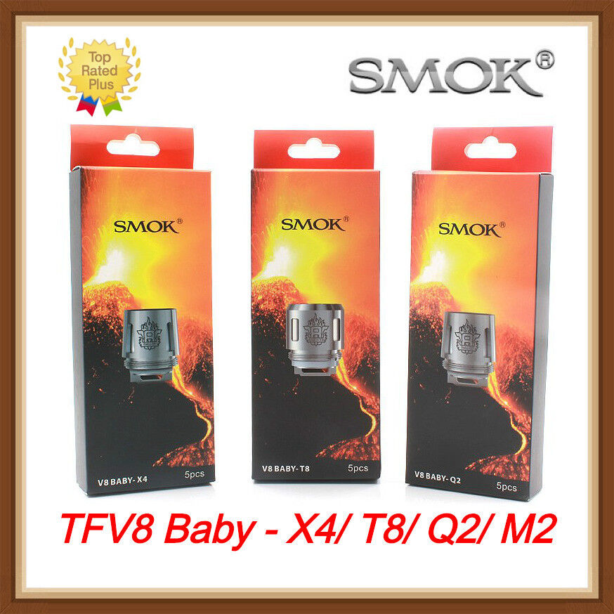 5/10pcs Smok TFV8 Baby Coil Head Cloud Beast Replacement For V8 Baby T8 X4 Q2