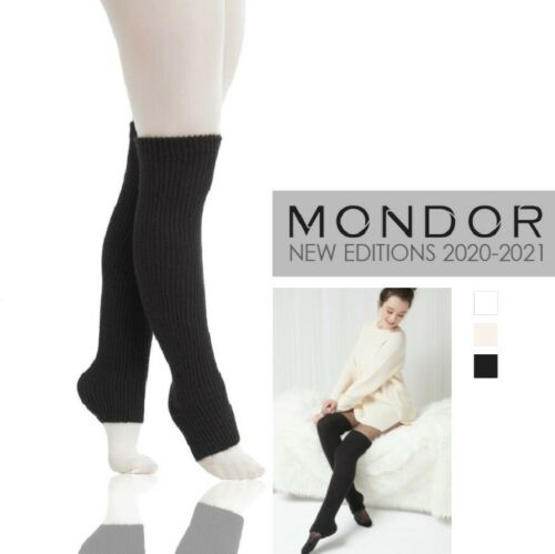 "Mondor Performance Dance & Figure Skating 1 x 1 RIB LEGWARMERS 24"" NEW 3 Colors"