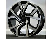 "x4 18"" Clubsport Golf Style Alloy Wheels Black Pol VW Golf Caddy Passat Jetta"