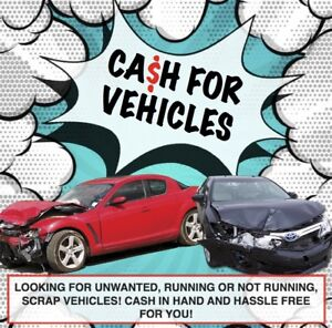 Cash for scrap vehicles!