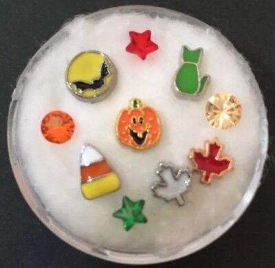 Floating Charm Set~*~ HALLOWEEN Witch Cat Boo Fall Pumpkin Spook~*~Living Locket (Spook Halloween)