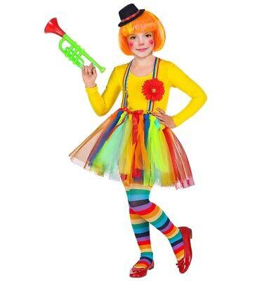 CLOWN KOSTÜM & HUT KINDER Tütü Rock Mädchen Harlekin Karneval Fasching # - Mädchen Harlekin Clown Kostüm