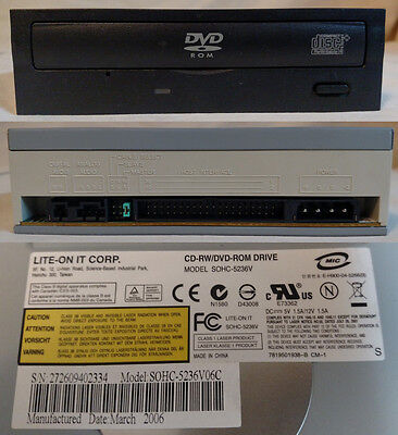LITE-ON Combo Drive SOHC-5236V CD-RW/DVD-ROM IDE Free Priority Shipping