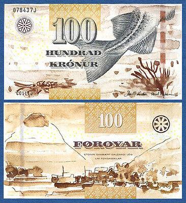 FÄRÖER / FAEROE ISLANDS 100 Kronur (20)11  UNC  P.30