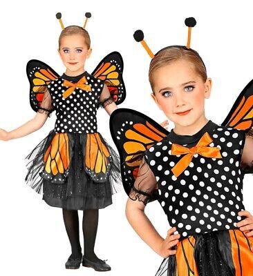 Schmetterling Deluxe Kinder Kostüm - Kleid mit Flügel - Schmetterling Flügel Kostüme Kinder