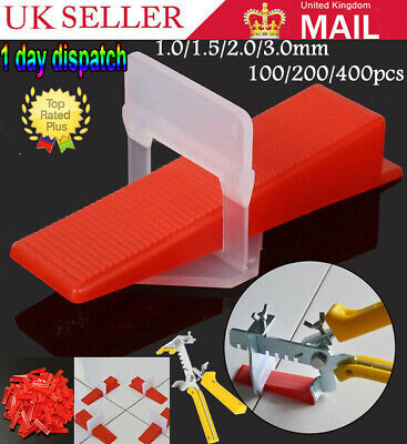 ✅UK 400PCS Tile Leveling Spacer System Tool Clips Wedges Flooring Lippage Plier✅