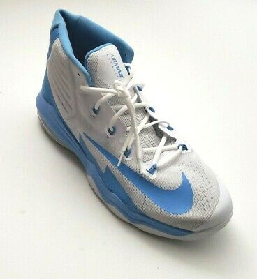 Nike Men's Air Max Audacity Athletic Basketball Shoes White/Baby Blue Size 18