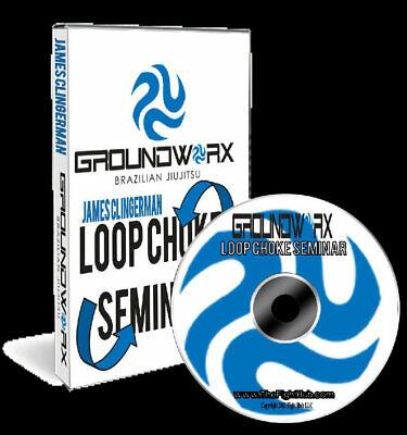 LOOP CHOKE SEMINAR JAMES CLINGERMAN DVD Training Set BJJ Jiu Jitsu MMA B316