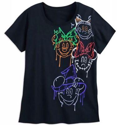 Minnie Mouse Disney Halloween Day Glo Puff Womens Ladies Tee T Shirt 3XL Plus