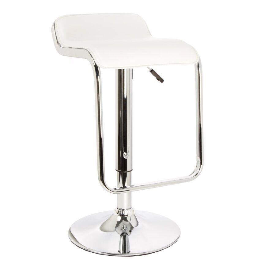 2 X Lem Lapalma Piston Bar Stool White Replica In