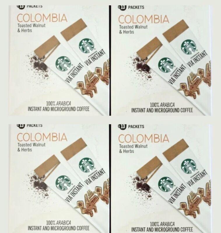 Starbucks VIA Instant Medium Roast Colombia Coffee, 52Count BB 3/2021