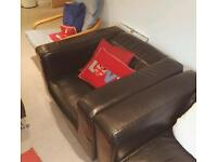Ikea black leather armchair