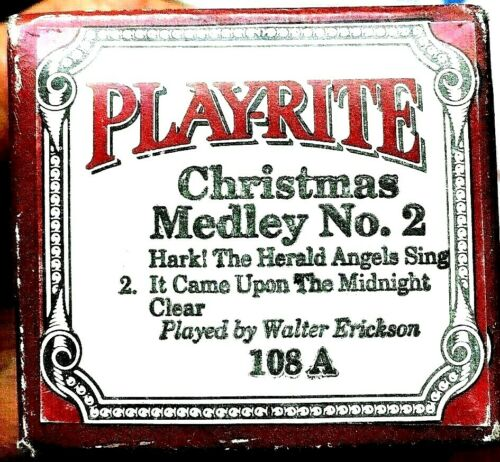 Play-Rite Word Roll CHRISTMAS MEDLEY No. 2 Holiday Player Piano Roll 108-A