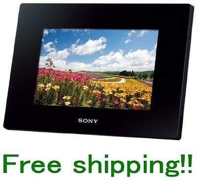 SONY DIGITAL PHOTO FRAME DPF-D720/B BLACK 7.0 INCH BUILT-IN MEMORY 2GB F/S NEW!