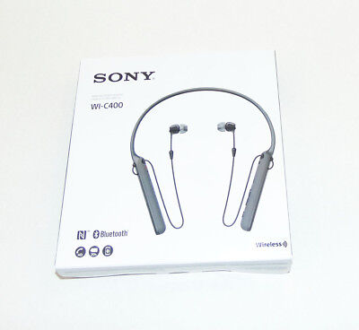 Sony WI-C400 Wireless Stereo Headphones Neckband Bluetooth, WIC400 Black