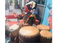 African Djembe drumming