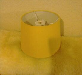 Lampshades two, yellow