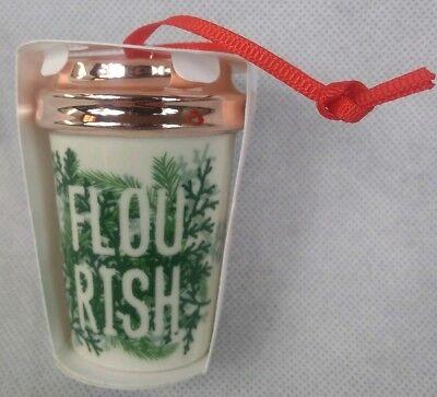 Starbucks 2017 Green Flourish Holiday Christmas Tree Ornament  ()
