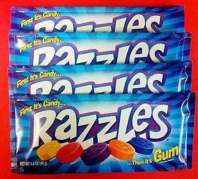 Razzles Original 4ct Candy Set FREE SHIPPING