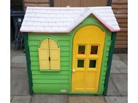 LITTLE TIKES Evergreen Country Cottage play house, wendy house, used