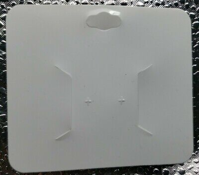 100 Blank Glossy White Necklace Earrings Paper Display Cards Jewelry
