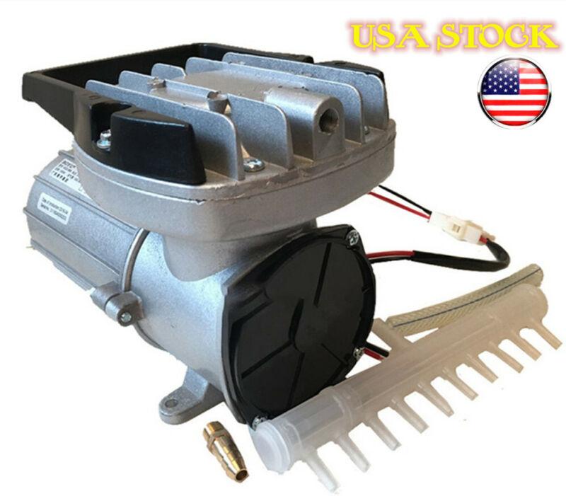 Air Pump Hydroponics  Magnetic Aerator DC12V 120W 160L/M Pond Aquarium Fish Tank
