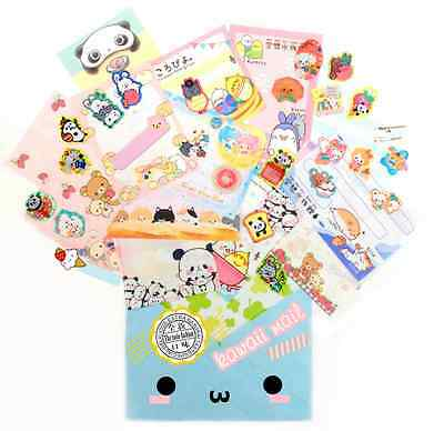 KAWAII MAIL Japanese Cute Stationery Surprise Set Memo Stickers San-x Q-lia Crux